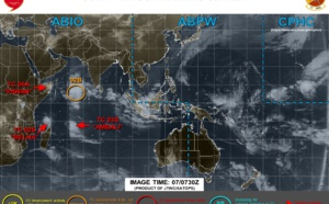 TC 02S(BELNA) cat 2 and intensifying. 03S(AMBALI), Invest 92B and 93P: updates 07/09UTC