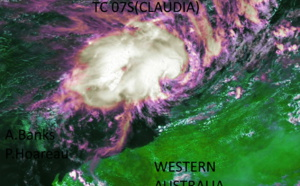 South Indian: 07S(CLAUDIA) forecast to reach Typhoon intensity within 12hours