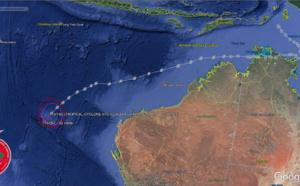 Western Australia area: 07S(CLAUDIA) : Final Warning. Peak intensity was 80knots( top CAT 1US)