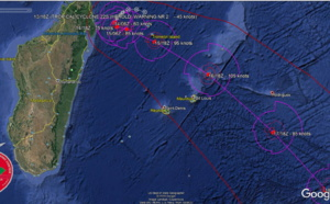 South Indian:TC 22S(HEROLD) forecast to intensify to CAT 3 US while tracking North of Mauritius