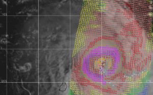 TC 22S(HEROLD): CAT 3 US, tracking rapidly to the west of Rodrigues while weakening