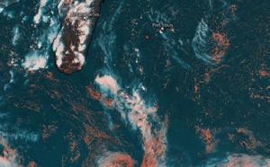 ILES SOEURS: des orages près du Sud-Ouest de MAURICE, se décalent la nuit prochaine vers la RÉUNION, mise à jour Dimanche 15h