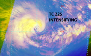 SOUTH INDIAN: intensifying TC 22S forecast to reach US/Category 1 by 24hours, 26/03utc update