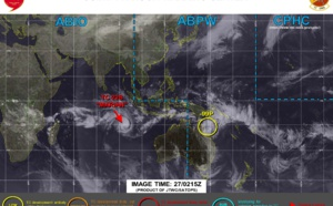 Southern HEM: TC 22S, 65knots, has reached US/Category 1, peak intensity forecast by 48h, Invest 99P on the map, 27/03utc update