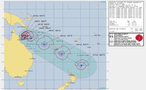 SHEM: 23P(NIRAN) 55knots gradually intensifying over the Coral Sea// 22S(MARIAN) 90knots set on a weakening trend, 02/15utc updates