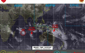 SHEM:busy time! 23P(NIRAN) set to reach US/Cat 4 by 24h/ 22S(MARIAN) still at 55knots/ Invest 90S up-graded to High, Invest 91S soon on the map, 04/03utc updates