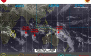 Southern Hemisphere: the JTWC is monitoring 4 systems at once, 23P(NIRAN), 22S(MARIAN), 24S(HABANA) and Invest 91S. 04/15utc updates