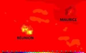 ILES SOEURS: toujours chaud à MAURICE, nettement plus ventilé à la RÉUNION, tendances pour Vendredi 02/04