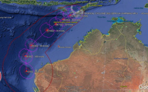 SOUTH INDIAN: 26S(SEROJA) could reach US/CAT 3 by 96hours. 27S slow-moving 550km South of Christmas island, 05/03utc update