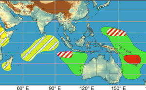 2 week cyclonic development potential: South and Western North Pacific may observe TC formation, April/06 Update