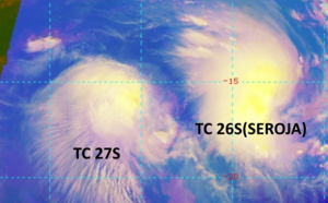 SOUTH INDIAN: 27S is getting absorbed by larger and intensifying 26S(SEROJA). Invests 91S and 92P under monitoring,08/09utc update
