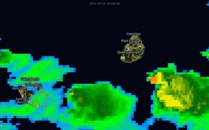 ILES SOEURS: Grosses averses sur le Sud-Est de MAURICE, mise à jour le 16/08h
