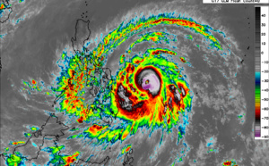 """Western North Pacific: 02W(SURIGAE) strong typhoon, CAT 4, may intensify to """"Super Typhoon"""" level within 24hours, 17/03utc update"""
