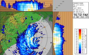 BAY OF BENGAL: TC 02B(YAAS) has reached US/CAT 1 and is forecast to make landfall near Balasore/Odisha with top gusts in excess of 150km/h shortly before 24h, 25/15utc update