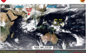 Western North Pacific: a couple of Invest Areas under watch, likely to consolidate next several days, 27/05 03utc update