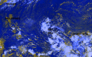 Western North Pacific: Invest 90W is up-graded to Medium, Invest 99W closely monitored too, 28/03utc update