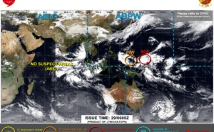 Western North Pacific: Tropical Cyclone Fomation Alert issued for Invest 90W// Invest 99W up-graded to Medium, 29/06utc update