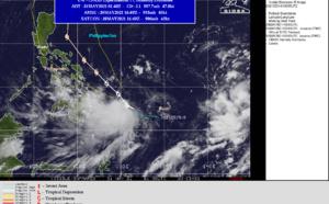 WNP: 04W is now analyzed as 50knot Tropical Storm, forecast to reach Typhoon intensity by 36hours, 31/03utc update