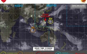 04W (CHOI-wan) : struggling to organize, forecast intensity is much lower than the previous forecast// Invest 93S and Invest 90W on the map, 01/03utc update