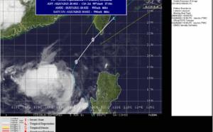 WNP: 04W (CHOI-wan) has begun to turn Northeastward, clipping Southern Taiwan,forecast to dissipate by 48h South of Kyushu, 03/21utc update