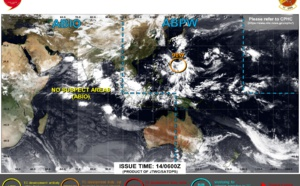 After a period of inactivity JTWC is monitoring 2 systems: Invest 98W and TD 06E, 14/06utc updates