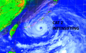 Western Pacific: 09W(IN-FA) has grown into a Typhoon/CAT2 and is still intensifying, 10W(CEMPAKA) made landfall as CAT1, 21/03utc updates