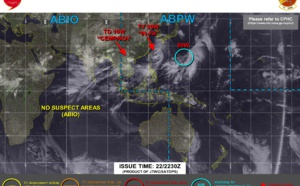 Western Pacific: still active with 3 systems being monitored, 23/03utc updates